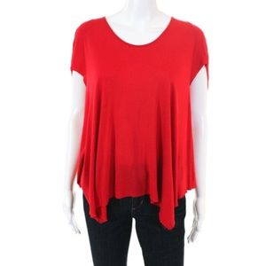 NWT Helmut Lang for Intermix Short Sleeve Red Top